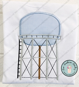 Water Tower Tank Applique Design